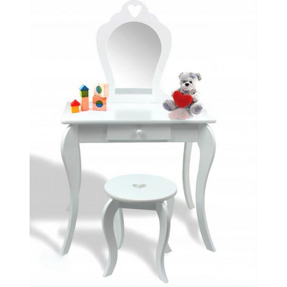 Inlea4Fun Fésülködő asztal gyerekeknek - fehér