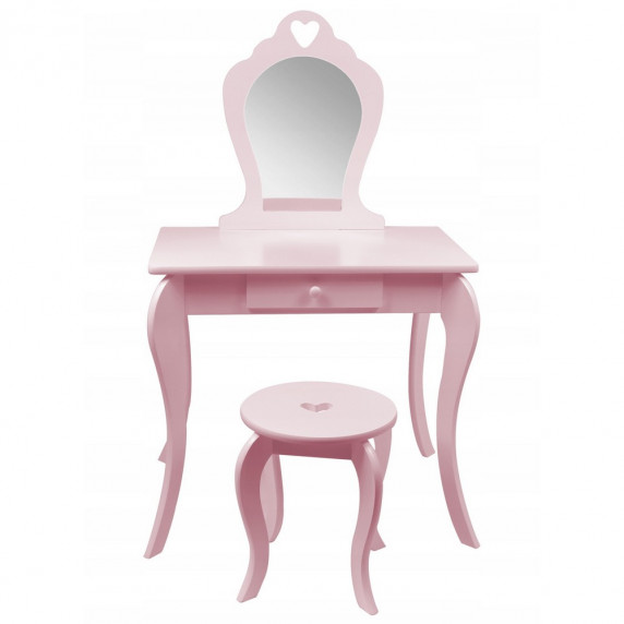 Inlea4Fun Fésülködő asztal gyerekeknek-rózsaszín