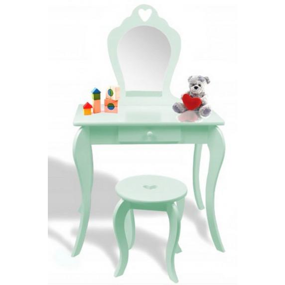 Fésülködő asztal gyerekeknek Inlea4Fun - Menta zöld