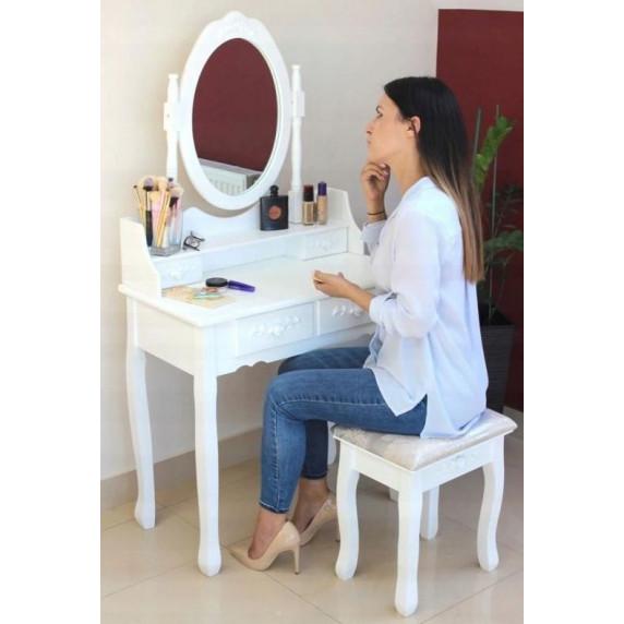 Fésülködő asztal székkel  Inlea4Fun PHO3992M