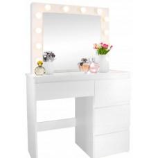 Inlea4Fun Fésülködő asztal megvilágítással 4 fiókkal Előnézet