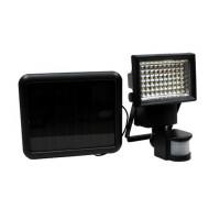 GARDEN LINE Napelemes lámpa mozgásérzékelővel 100 LED - fekete