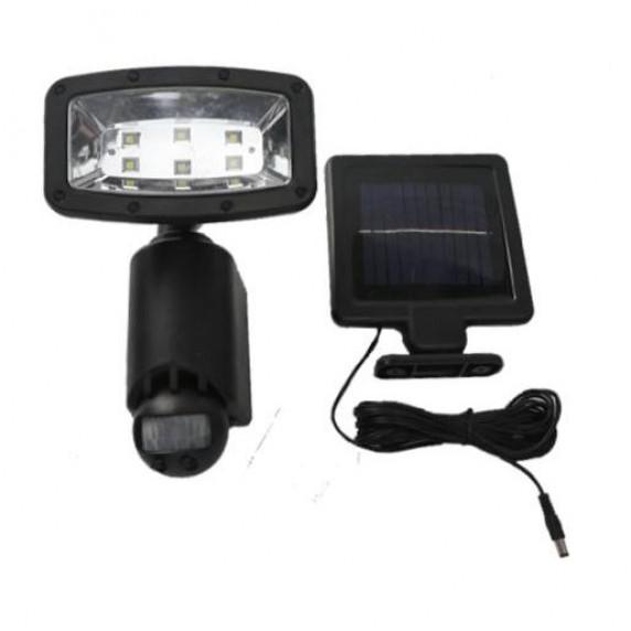 InGarden Napelemes lámpa mozgásérzékelővel 6 LED - fekete