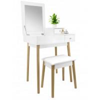 Fésülködő asztal székkel Inlea4Fun PHO5797 - fehér