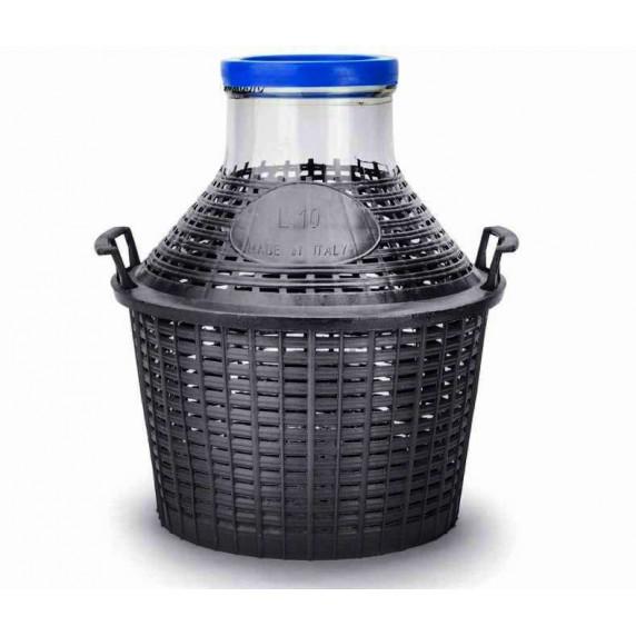 Üveg demizson 10 l -széles üvegszáj