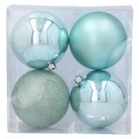Karácsonyfa dísz szett 4 darab 12 CM Inlea4Fun - Menta