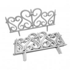 GARDEN LINE kerti műanyag kerítés szett 59,5 x 37 cm - 4 db - fehér Előnézet