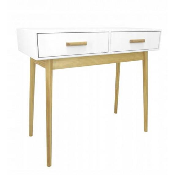 Skandináv stílusú 2 fiókos asztal 90x40x79 cm InGarden SCANDINAVIA