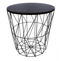Dohányzóasztal, kisasztal 39,5/41 cm Inlea4Home 9114 - fekete/fekete