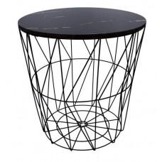 Dohányzóasztal, kisasztal 39,5/41 cm Inlea4Home 9114 - fekete/fekete Előnézet