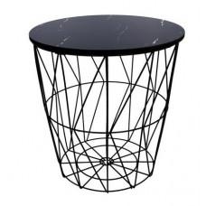 Dohányzóasztal, kisasztal 34/36 cm Inlea4Home 9121 - fekete/fekete Előnézet