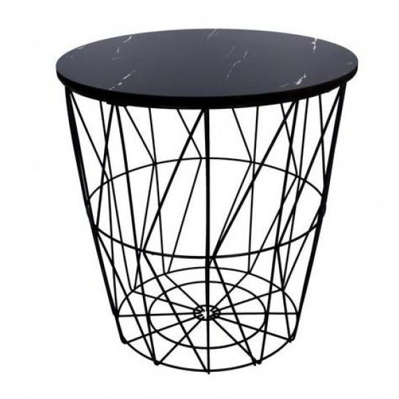 Dohányzóasztal, kisasztal 29/30,5 cm Inlea4Home 9138 - fekete/fekete