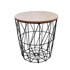 Dohányzóasztal, kisasztal 29/30,5 cm Inlea4Home 9169 - fekete/natúr Előnézet