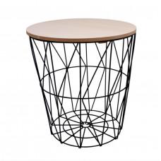 Dohányzóasztal, kisasztal 34/36 cm Inlea4Home 9152 - fekete/natúr Előnézet