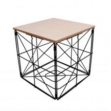Dohányzóasztal, kisasztal kocka 30 cm Inlea4Home 9237 - fekete/natúr Előnézet