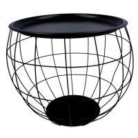 Dohányzóasztal, kisasztal 44x50x37 cm Inlea4Home 9084 - fekete/fekete