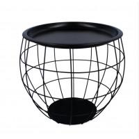 Dohányzóasztal, kisasztal 35x38x33 cm Inlea4Home 9091 - fekete/fekete