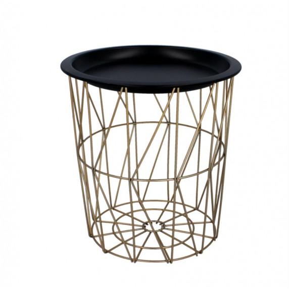 Dohányzóasztal, kisasztal 29/30,5 cm Inlea4Home 9190 - aranyszínű/fekete