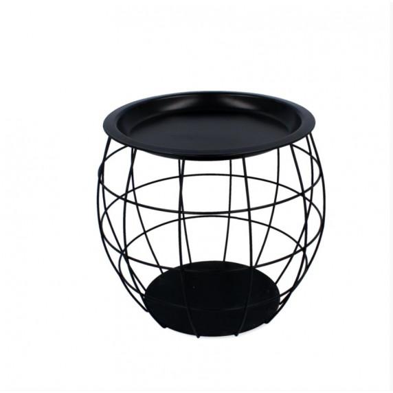 Dohányzóasztal, kisasztal 27x29x28 cm Inlea4Home 9107 - fekete/fekete
