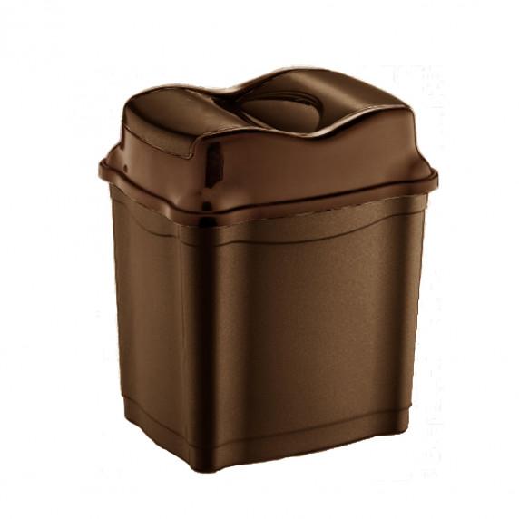 Billenős szemetes, műanyag, 28l Inlea4Home - barna