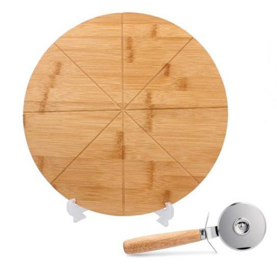 Pizza deszka szeletelővel 33x1,5 cm Inlea4Home