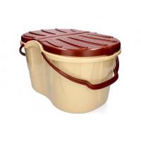 Családi piknik kosár 47 x 33 x 27,5 cm - barna-krém színben