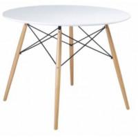Skandináv stílusú kerek étkezőasztal Aga 80 cm - Fehér - MR2030-80