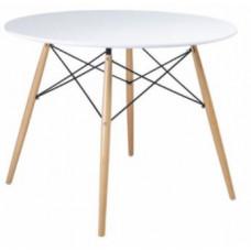 Skandináv stílusú kerek étkezőasztal 80 cm AGA MR2030-80 - Fehér Előnézet