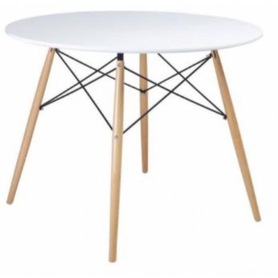 Skandináv stílusú kerek étkezőasztal Aga 60 cm - Fehér - MR2030-60