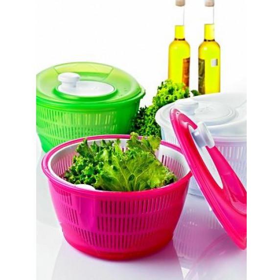Salátacentrifuga 5 l Inlea4Home -rózsaszín
