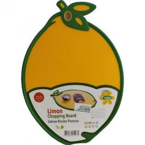 Vágódeszka csúszásgátlóval citrom formájú Inlea4Home