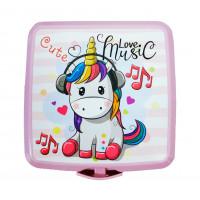 Tároló uzsonnás doboz evőeszközzel Inlea4Home - unikornis Music