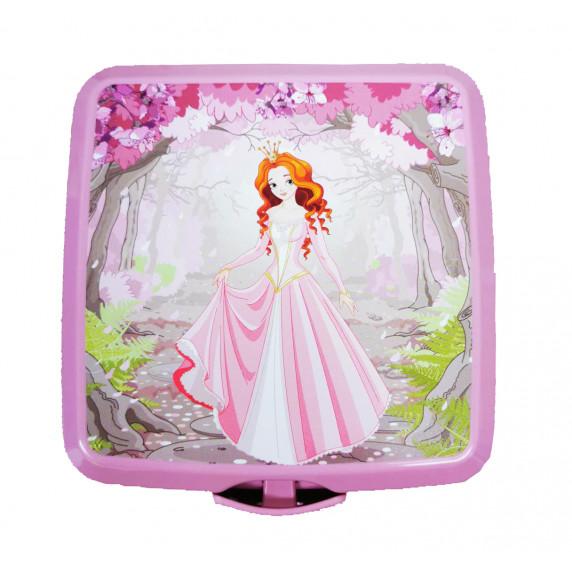Tároló uzsonnás doboz evőeszközzel Inlea4Home - hercegnő