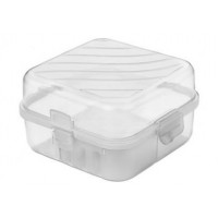 Tároló uzsonnás doboz evőeszközzel 1,4 l Inlea4Home - átlásztó