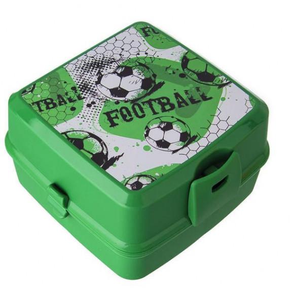 Tároló uzsonnás doboz evőeszközzel Inlea4Home - Fotball