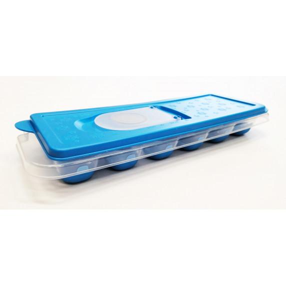 Jégkocka készítő lezárható tetővel Inlea4Home - kék