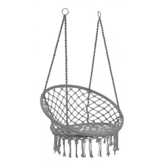 Függőszék rojtokkal  Ingarden HAM2696 80x60x120 cm -szürke