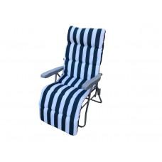 InGarden FLÓRA kerti szék - kék csíkos Előnézet