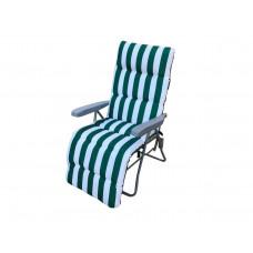 InGarden FLÓRA kerti szék - zöld csíkos Előnézet