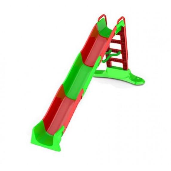 Vizes csúszda kapaszkodóval 400 cm Inlea4Fun - piros/zöld