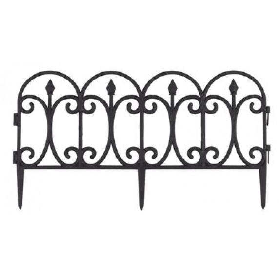 GARDEN LINE kerti műanyag kerítés szett 60 x 33 cm - 4 db
