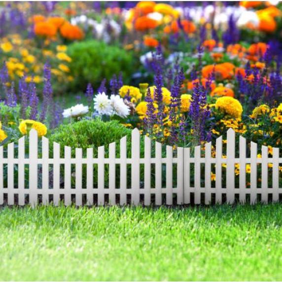 GARDEN LINE kerti műanyag kerítés szett 60,5 x 32,5 cm - 4 db