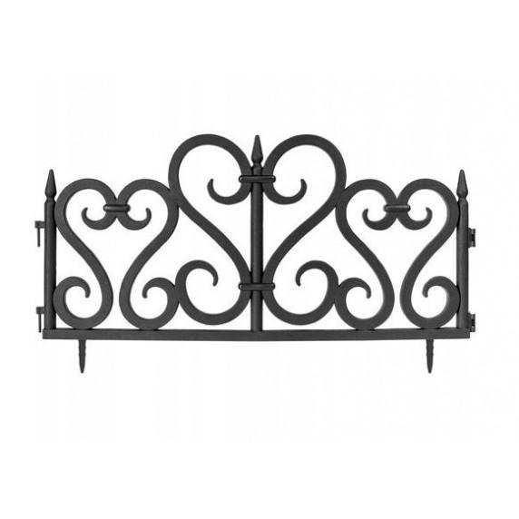 GARDEN LINE kerti műanyag kerítés szett 59,5 x 37 cm - 4 db -fekete