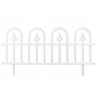 GARDEN LINE kerti műanyag kerítés szett 60 x 30,5 cm 4 db - fehér