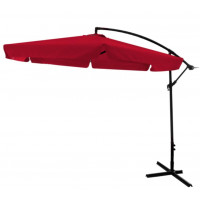 Függő napernyő InGarden BANANA 300 cm - Piros