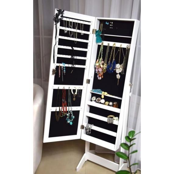 Inlea4Fun álló tükör ékszer szekrény 120cm