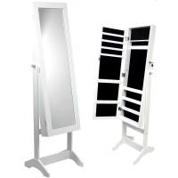 Inlea4Fun  álló tükör ékszer szekrény 140cm