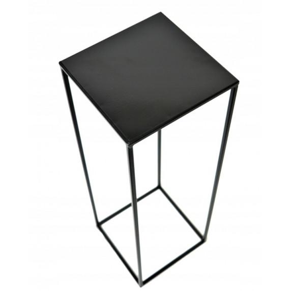 Fém virágállvány 26x26x60 cm Inlea4Home 9268  - fekete