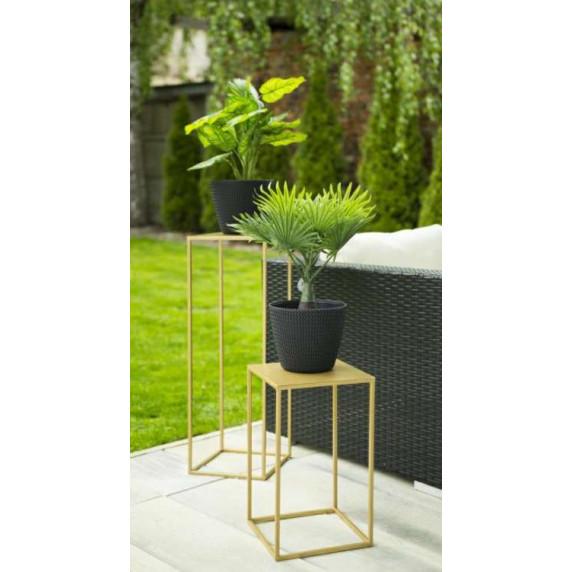 Fém virágállvány 26x26x60 cm Inlea4Home 9299 - aranyszínű