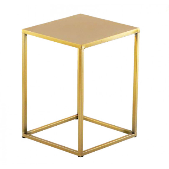 Fém virágállvány 22x22x30 cm Inlea4Home 9305 - aranyszínű